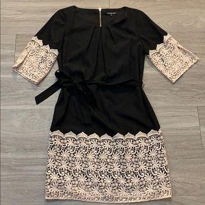 Gianni Bini Lace Sleeve & Hem Dress